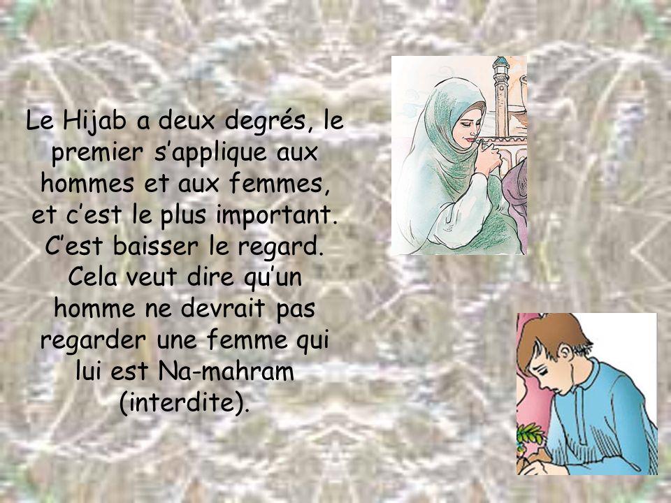 Le Hijab a deux degrés, le premier s'applique aux hommes et aux femmes, et c'est le plus important.