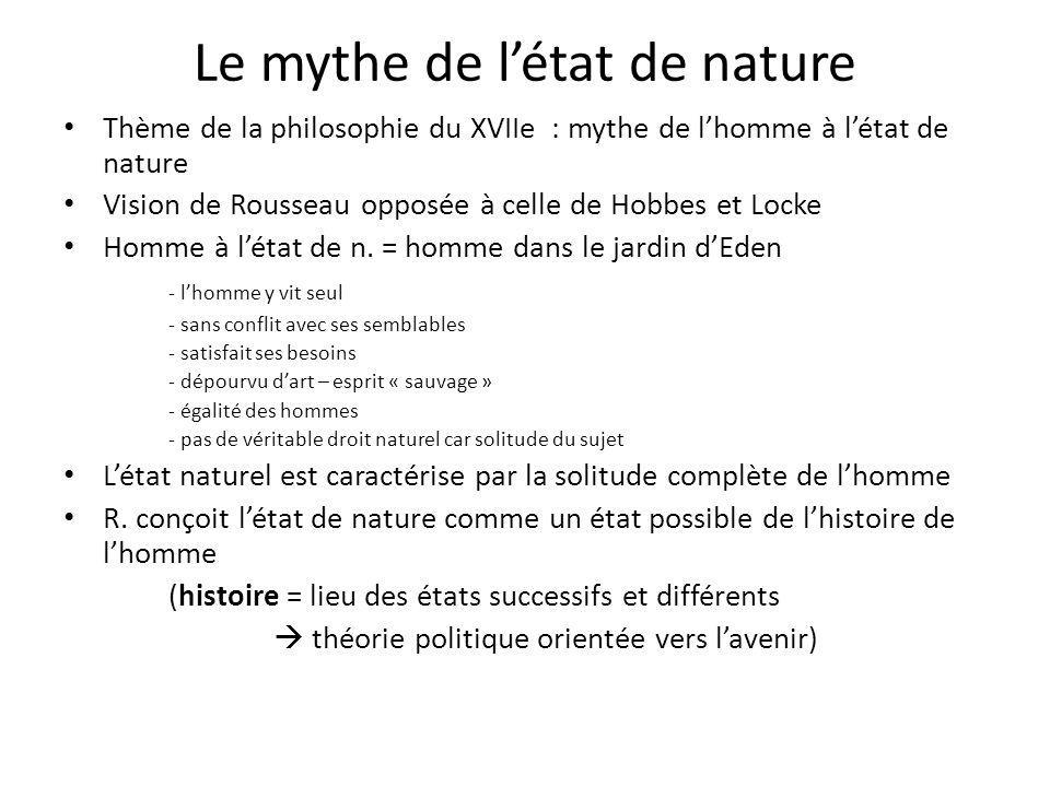 Le mythe de l'état de nature