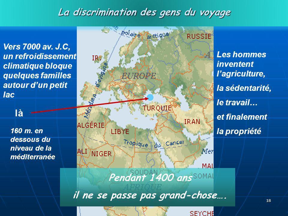 La discrimination des gens du voyage il ne se passe pas grand-chose….