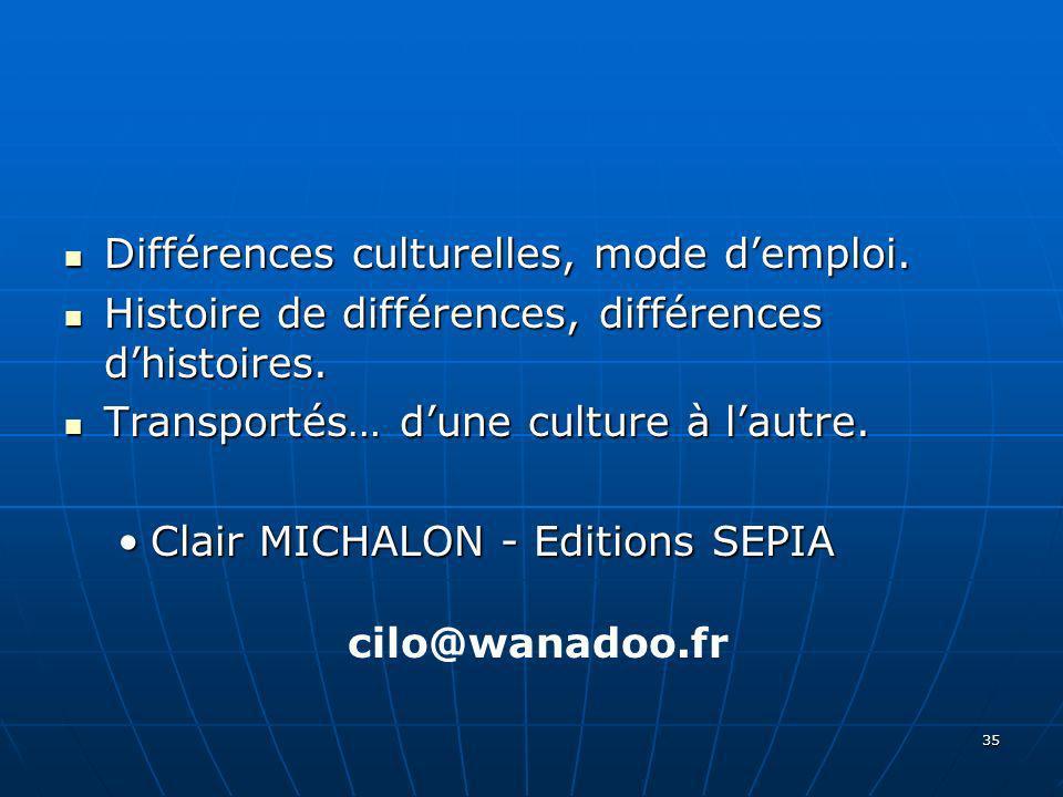 Différences culturelles, mode d'emploi.