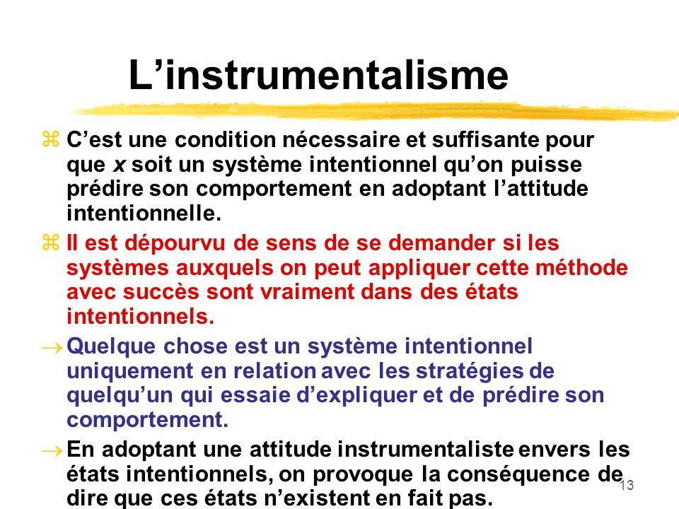 L'instrumentalisme