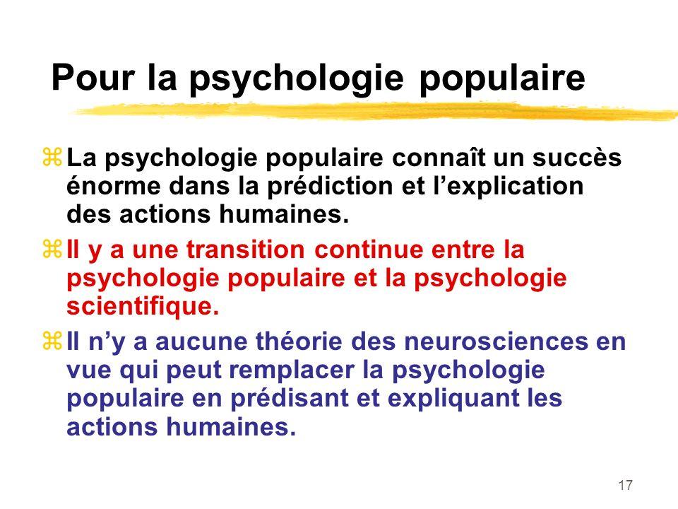 Pour la psychologie populaire