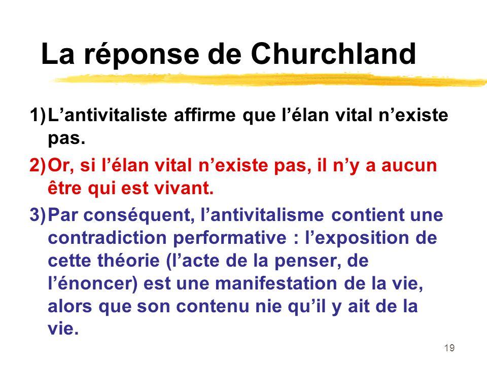 La réponse de Churchland