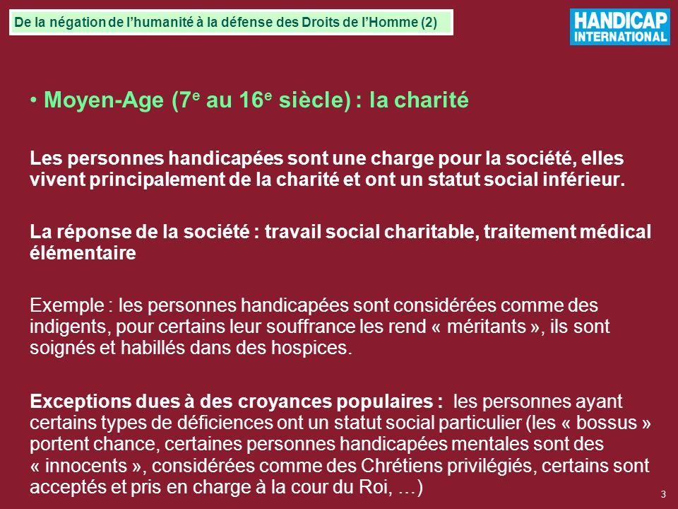 Moyen-Age (7e au 16e siècle) : la charité