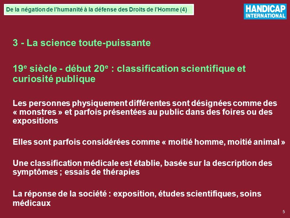 3 - La science toute-puissante