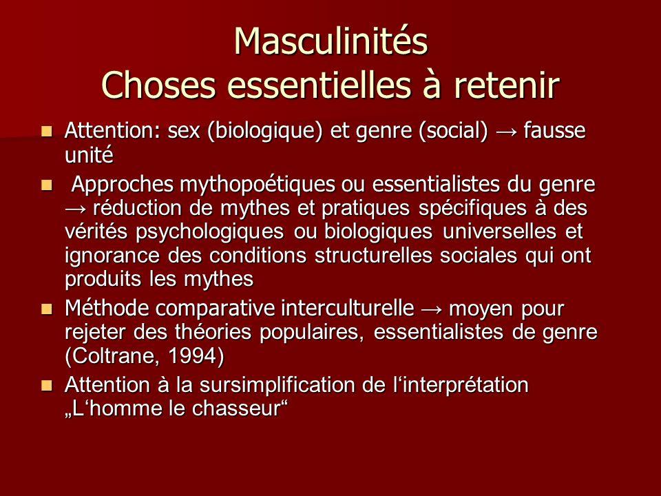 Masculinités Choses essentielles à retenir