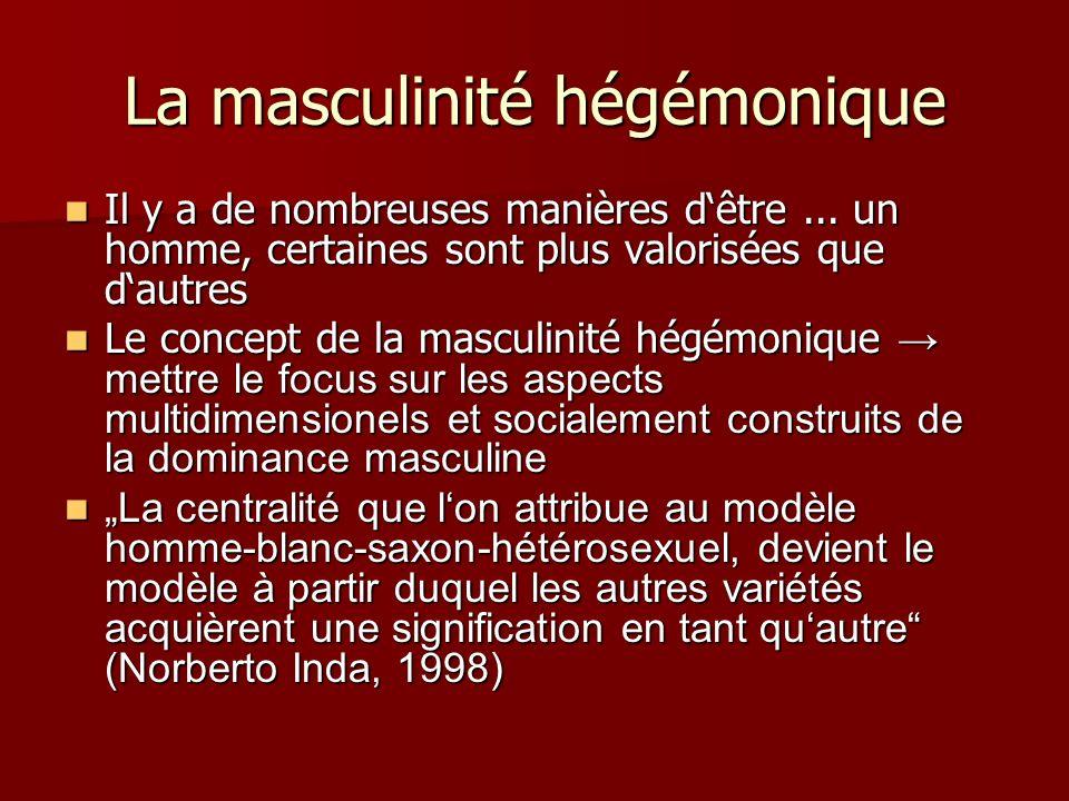 La masculinité hégémonique