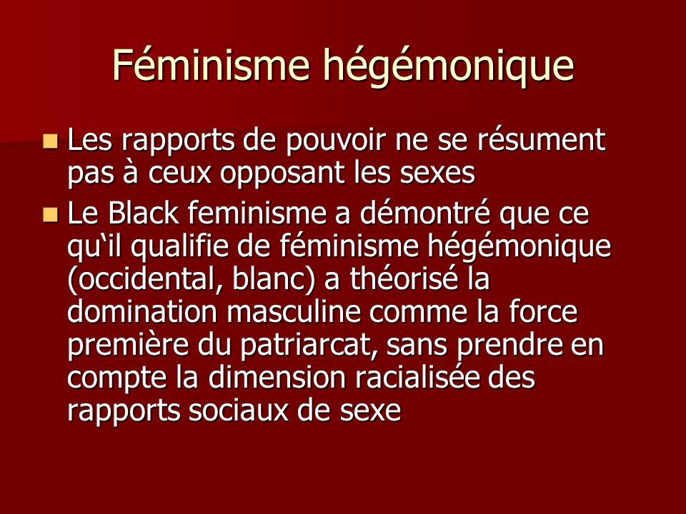 Féminisme hégémonique