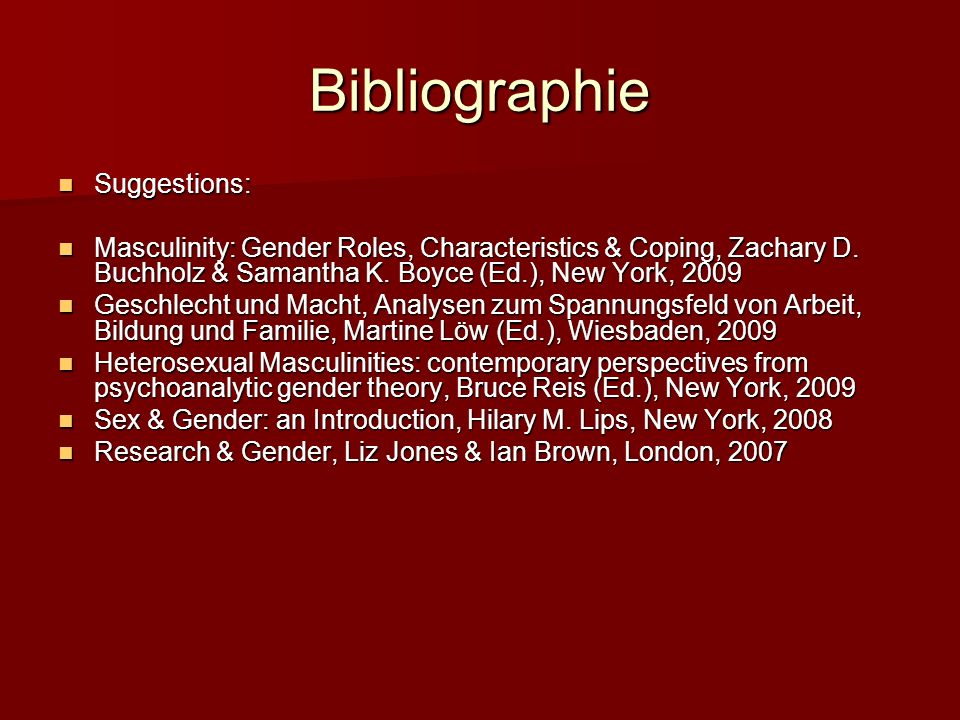 Bibliographie Suggestions: