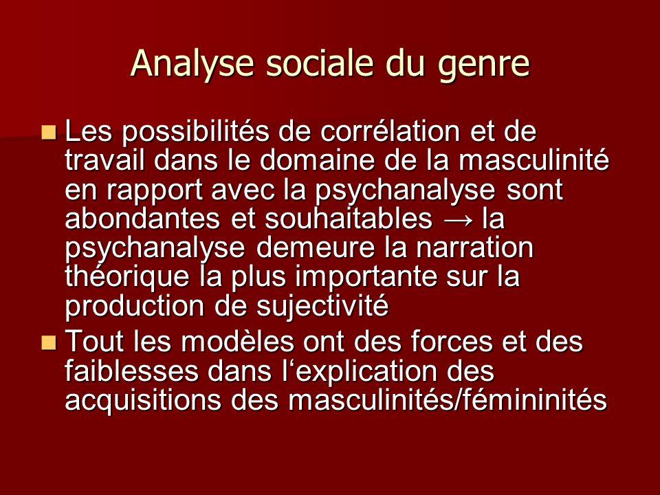 Analyse sociale du genre