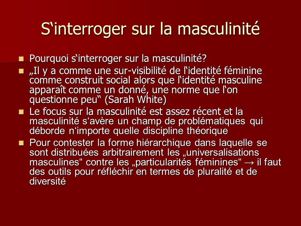 S'interroger sur la masculinité