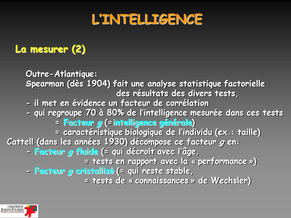 L'INTELLIGENCE La mesurer (2) Outre-Atlantique: