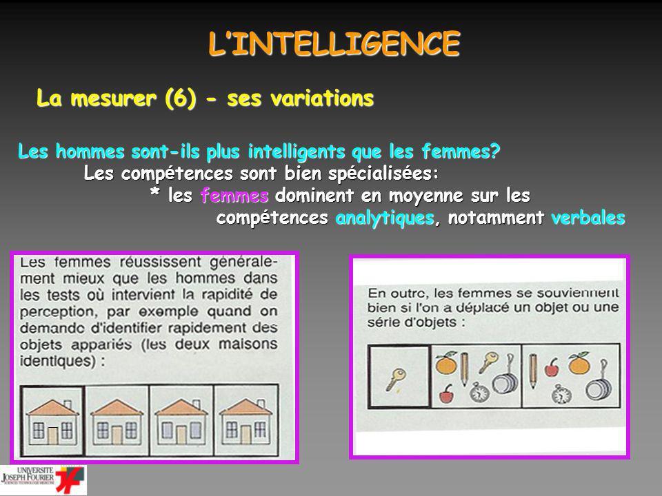 L'INTELLIGENCE La mesurer (6) - ses variations