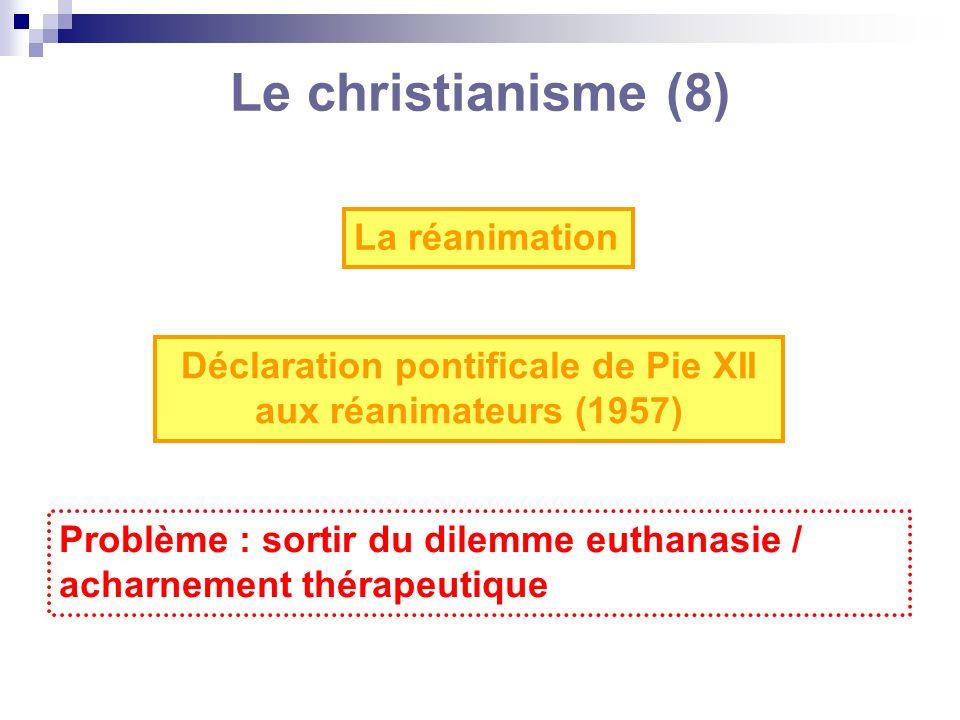 Déclaration pontificale de Pie XII aux réanimateurs (1957)