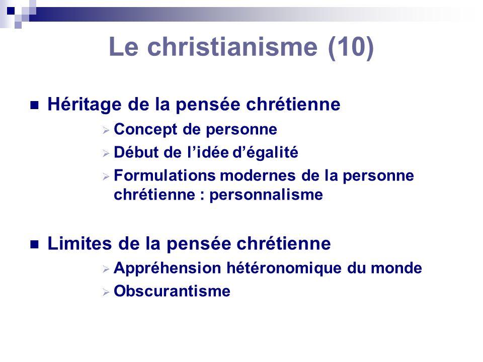 Le christianisme (10) Héritage de la pensée chrétienne