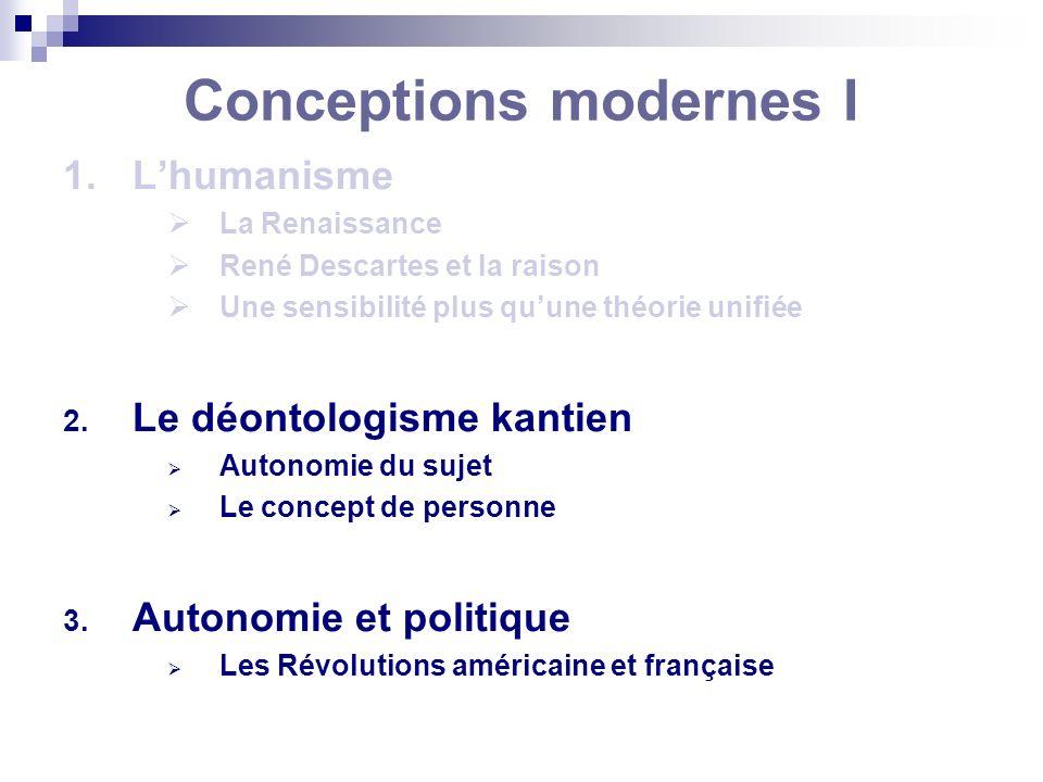 Conceptions modernes I