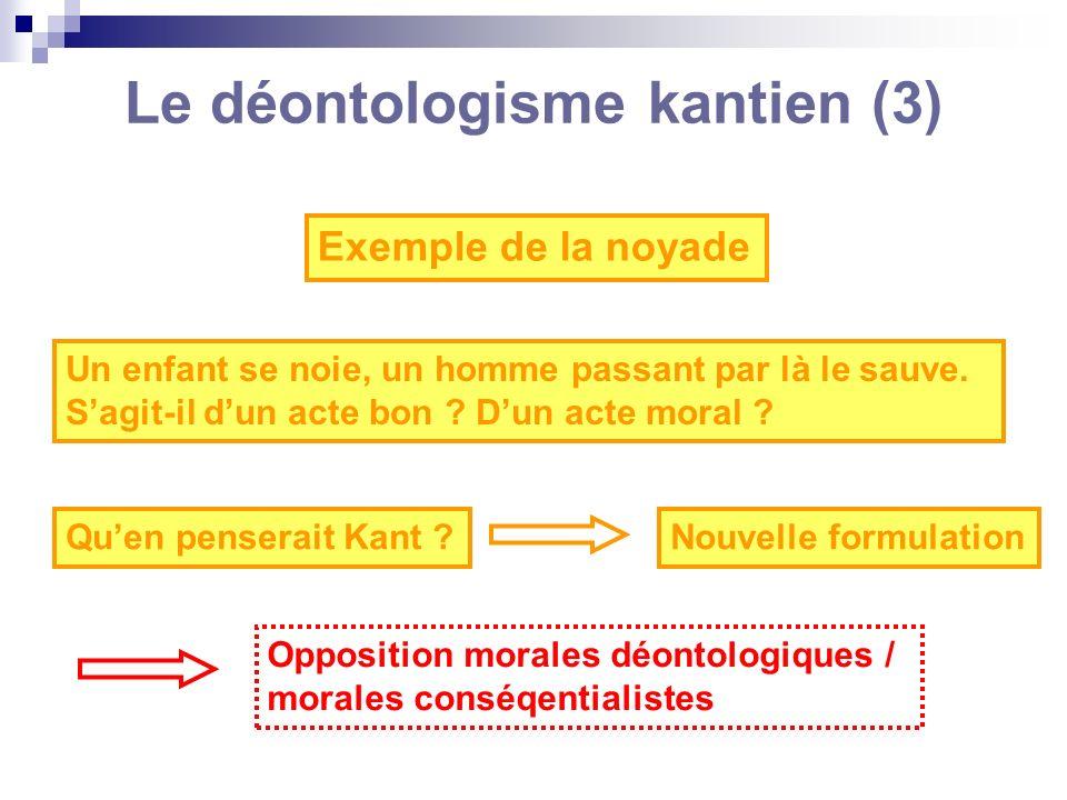 Le déontologisme kantien (3)