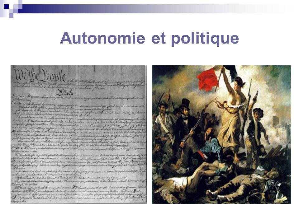 Autonomie et politique