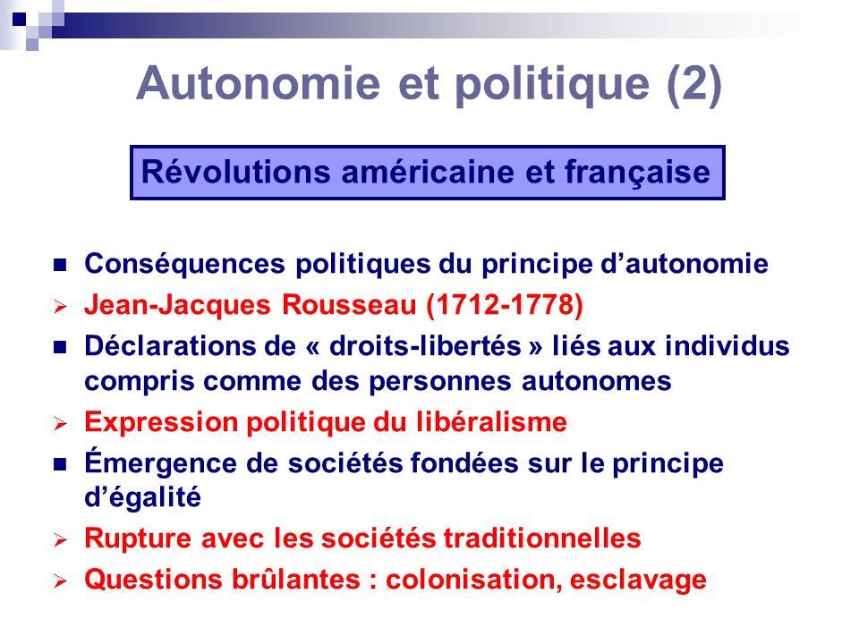 Autonomie et politique (2)