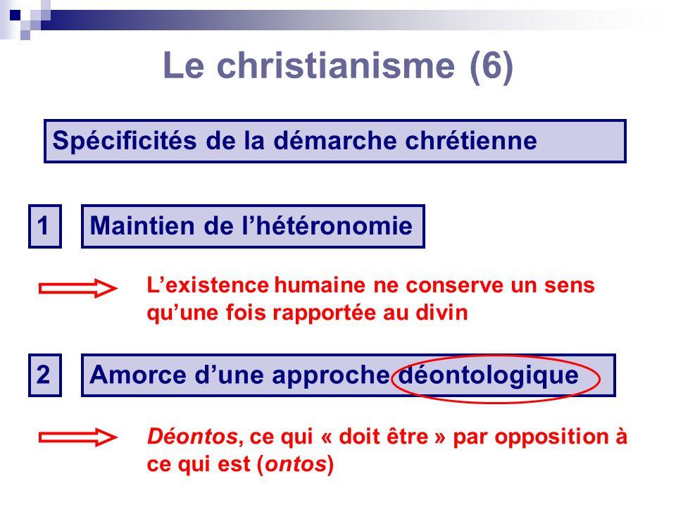 Le christianisme (6) Spécificités de la démarche chrétienne 1