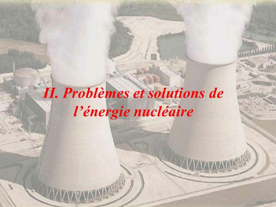 II. Problèmes et solutions de l'énergie nucléaire
