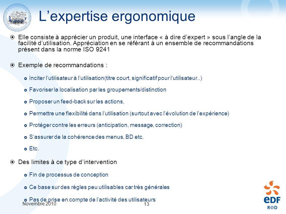 L'expertise ergonomique