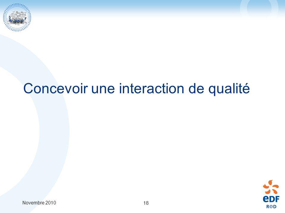 Concevoir une interaction de qualité