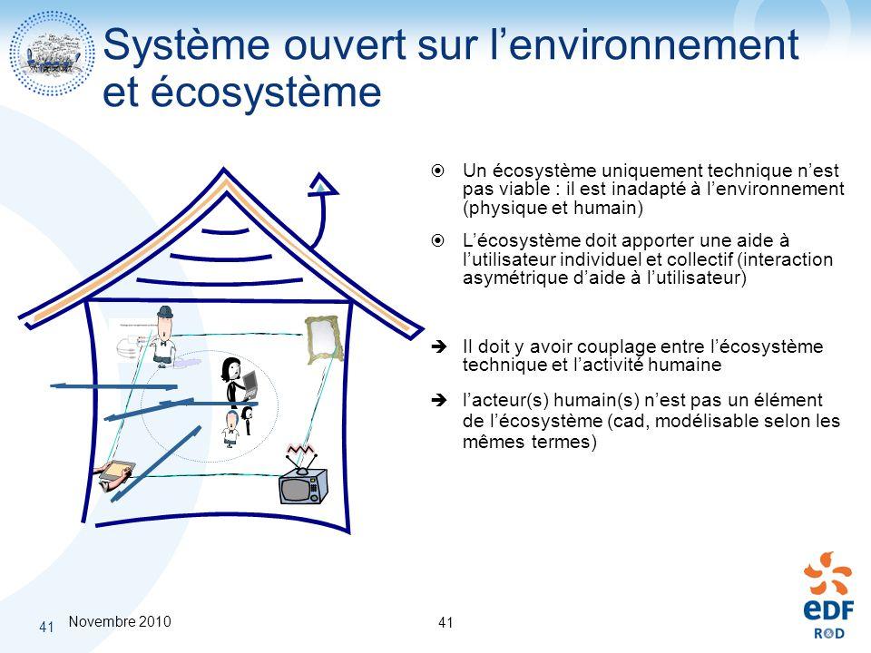 Système ouvert sur l'environnement et écosystème