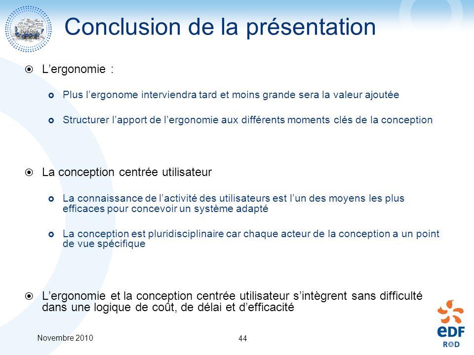 Conclusion de la présentation