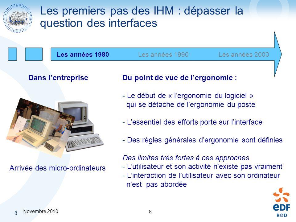 Les premiers pas des IHM : dépasser la question des interfaces