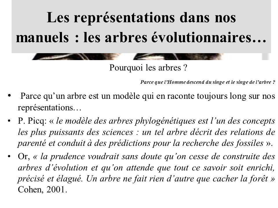 Les représentations dans nos manuels : les arbres évolutionnaires…