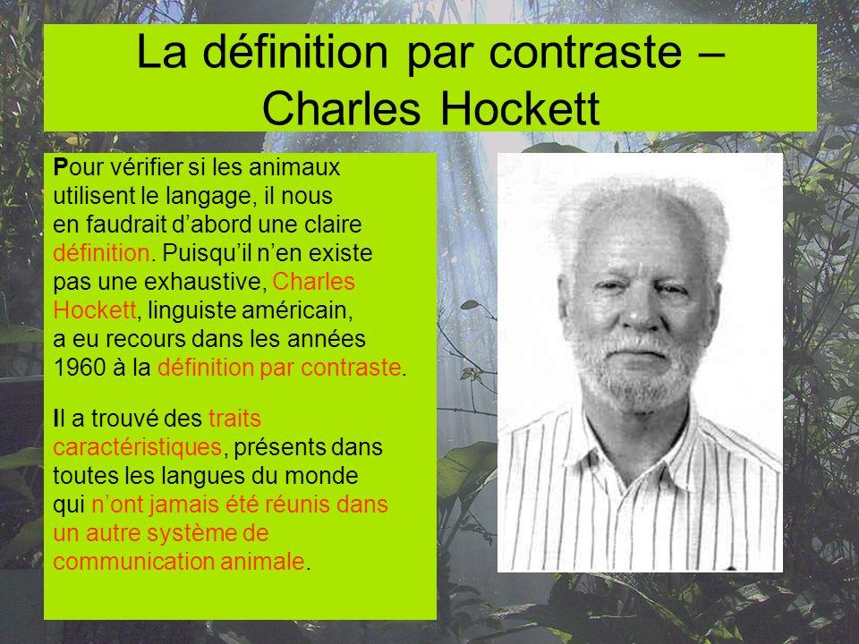 La définition par contraste – Charles Hockett