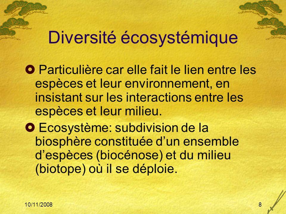 Diversité écosystémique