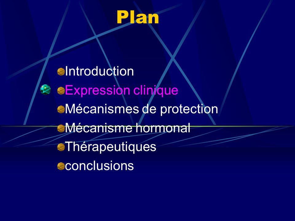 Plan Introduction Expression clinique Mécanismes de protection