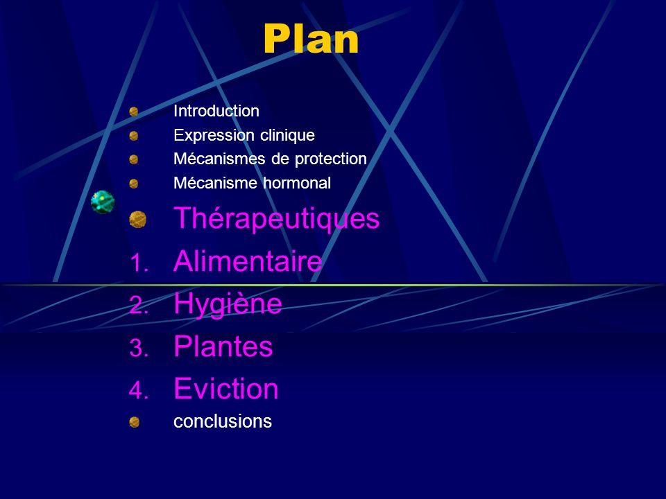 Plan Thérapeutiques Alimentaire Hygiène Plantes Eviction conclusions