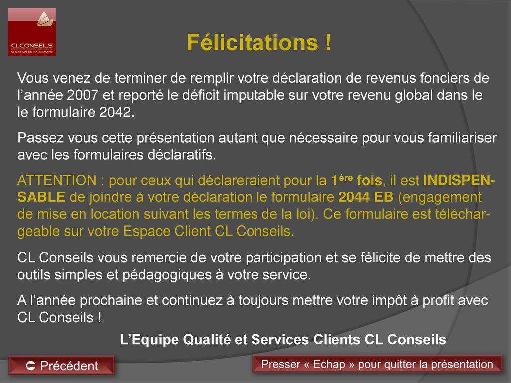 Assistance a la declaration ppt t l charger - Declaration revenus location meuble de tourisme ...