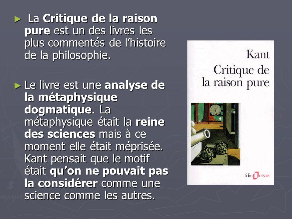 La Critique de la raison pure est un des livres les plus commentés de l'histoire de la philosophie.
