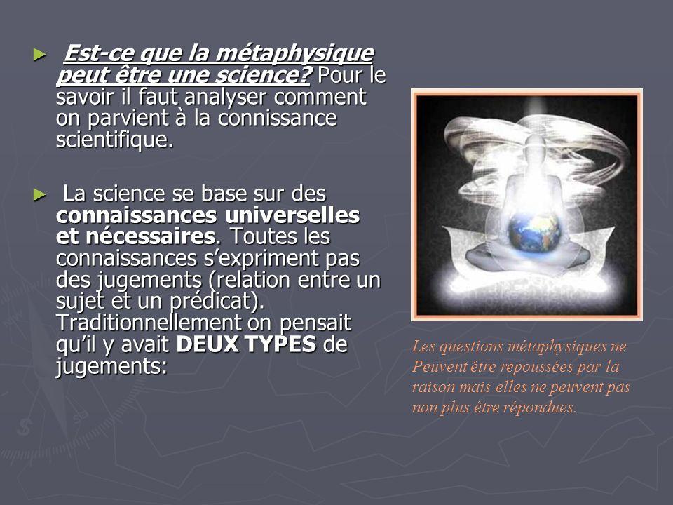 Est-ce que la métaphysique peut être une science