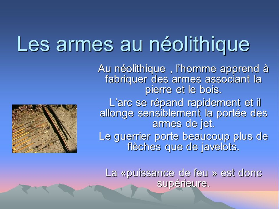 Les armes au néolithique