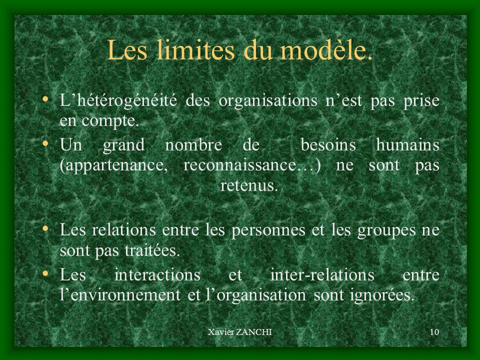 Les modèles organisationnels