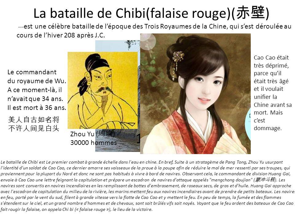 La bataille de Chibi(falaise rouge)(赤壁)