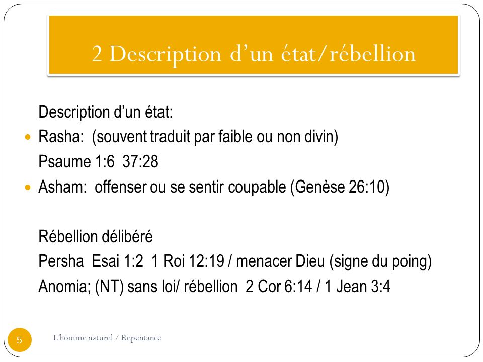 2 Description d'un état/rébellion