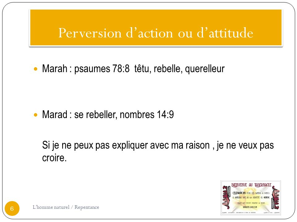 Perversion d'action ou d'attitude