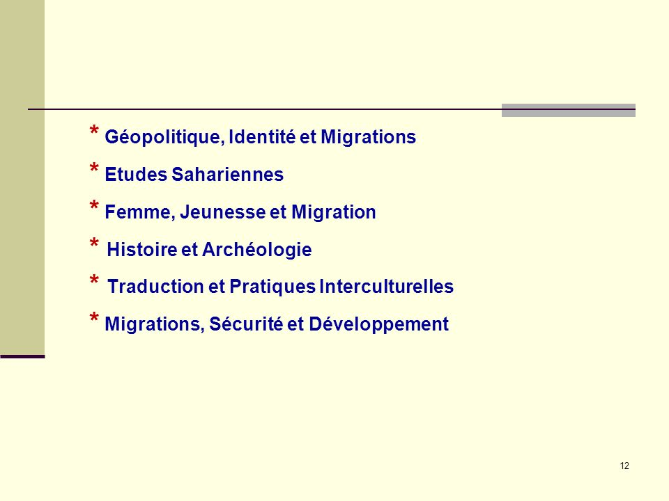 Géopolitique, Identité et Migrations. Etudes Sahariennes
