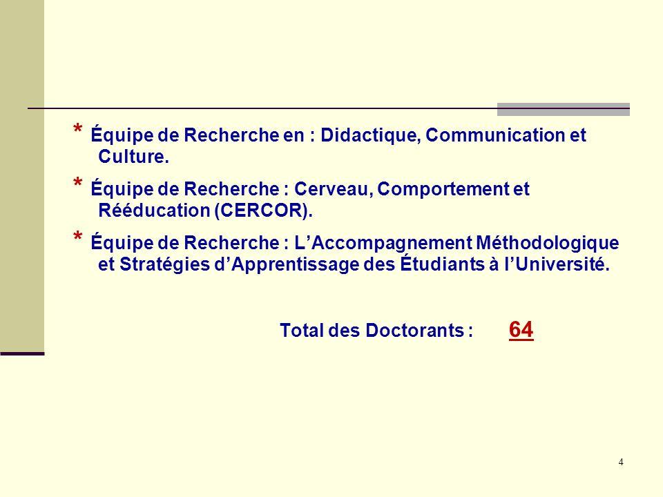 Équipe de Recherche en : Didactique, Communication et Culture