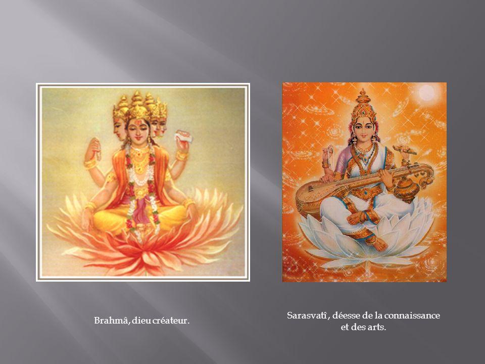 Sarasvatî , déesse de la connaissance et des arts.