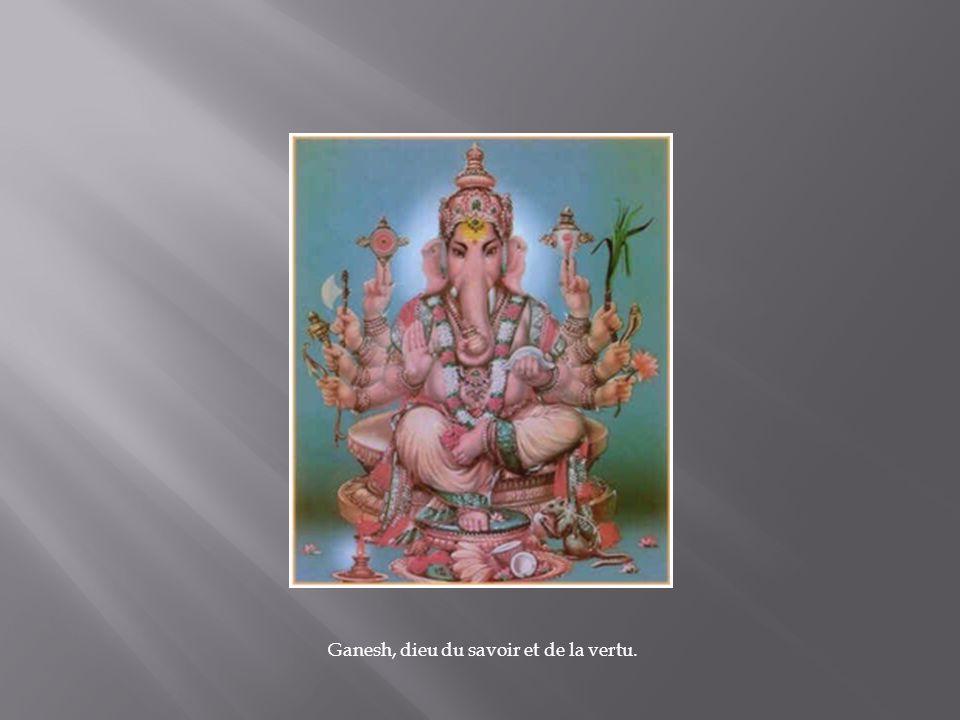 Ganesh, dieu du savoir et de la vertu.