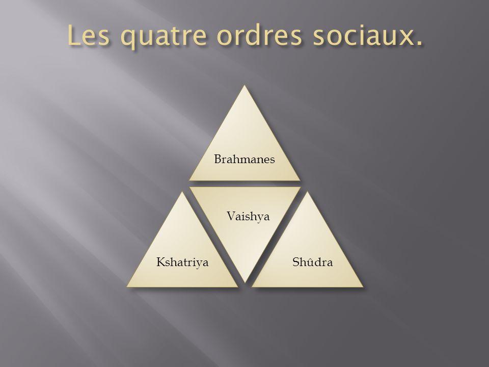 Les quatre ordres sociaux.