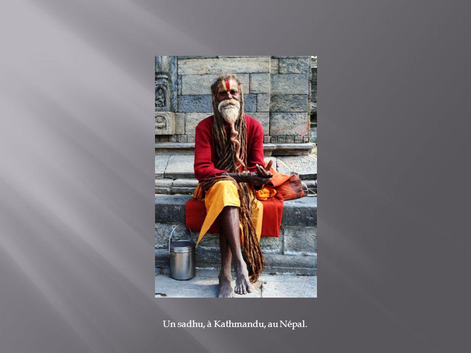 Un sadhu, à Kathmandu, au Népal.