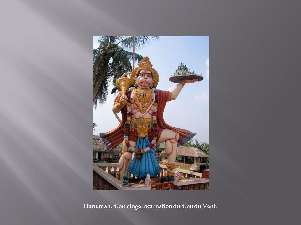 Hanuman, dieu-singe incarnation du dieu du Vent.